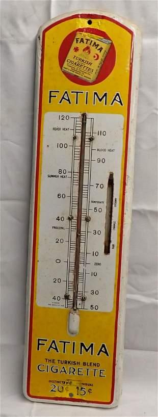 Fatima Turkish Cigarettes Porcelain Thermometer