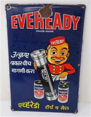 Eveready Porcelain Sign