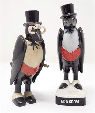 2 Old Crow Whiskey Bar Figures