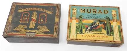 Murad Turkish Stephano Rameses Egyptian Cigarette Tins