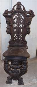 Ornate Carved Side Chair