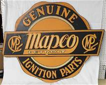 Mapco Detroit Ignition Parts Dealer Sign