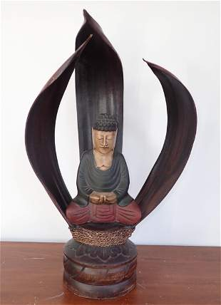 Oriental Wooden Decorator Sculpture