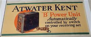 1927 Atwater Kent B Power Unit Poster / Sign