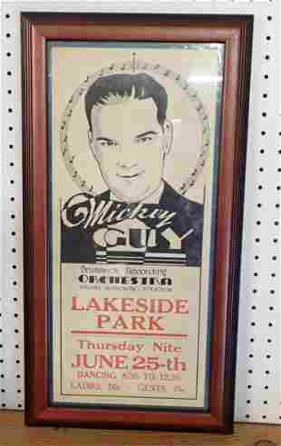 Mickey Guy Brunswick Recording Orchestra Poster
