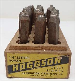 """Hoggson 1/4"""" Letter Punches Steel Stamps"""