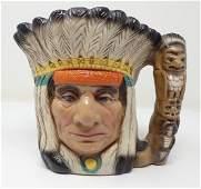Chalkware Indian Stein