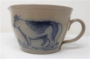 Maple City Pottery Batter Crock w/ Cow