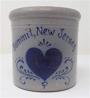 Summit NJ Rockdale Union Stoneware Crock