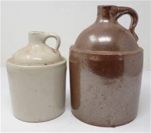 2 Stoneware Jugs