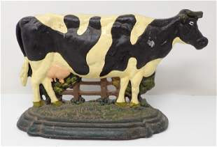 Cast Iron Cow Doorstop