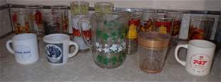 Vintage Pyro Drinking Glasses Pitcher Airline Mugs
