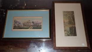 2 Signed Wallace Nutting Outdoor Prints