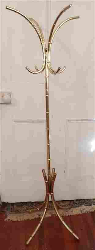 Brass Bamboo Style Clothes Tree