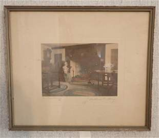 Signed Wallace Nutting Indoor Print