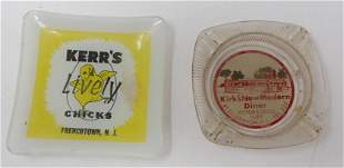 Kirks Diner Lebanon Kerr's Chicks Ashtrays
