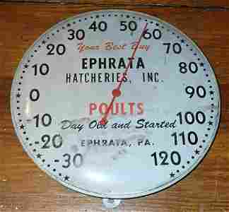 Ephrata Pa  Hatcheries Thermometer