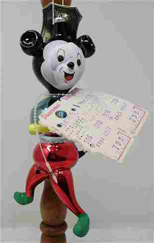 De Carlini Hand Blown Painted Mickey Mouse