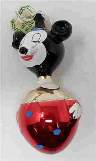Italy Hand Blown / Painted Minnie Mouse Ornament