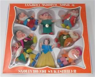 Union Wadding Snow White & Seven Dwarfs Ornaments