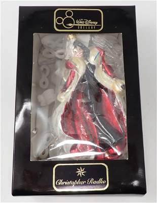 Cruella De Vil Radko Christmas Ornament