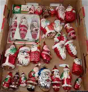 Vintage Santa Christmas Ornaments