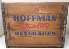 Hoffman Beverages Newark NJ Wooden Crate