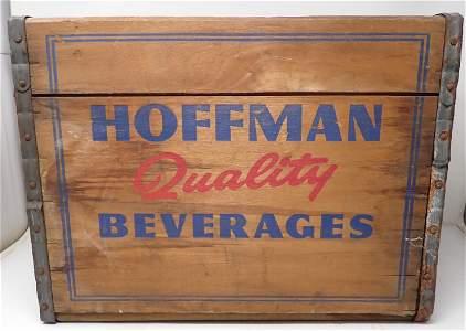 Hoffman Beverages Newark NJ Wooden Crate