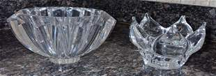 2 Signed Lead Crystal Bowls