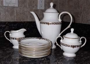 Lenox Classic Collections Teapot Creamer Sugar Saucers