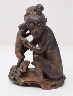 Soapstone Monkeys