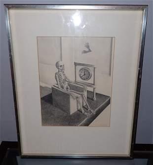 1971 JD Landa Pencil Skeleton w/ Clock