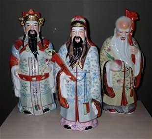 3 Asian Figures