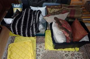 Pillows Totes and Blanket