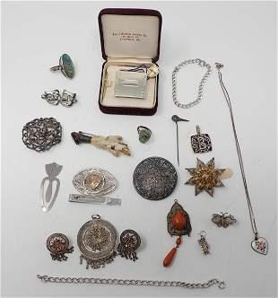 Sterling Silver Jewelry Belt Buckle Pins