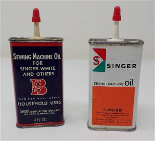 Bega Singer Sewing Machine Oil Cans