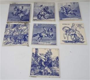 7 Vienna Tiles Incl Horse