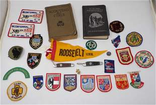 Boy Girl Scout Knives Books Patches