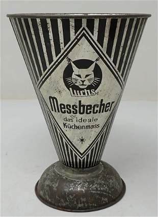 Messbecher German Tin Measuring Cup