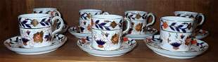 7 Royal Crown Derby Tiffany & Co Cups and Saucers