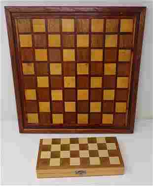 Wooden Checker Board and Chess Set