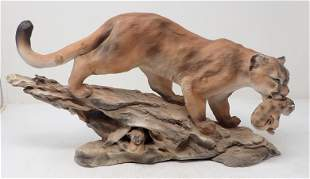 Minette Mountain Lion Sculpture