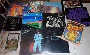 Rock Records Beatles Black Sabbath War  LP