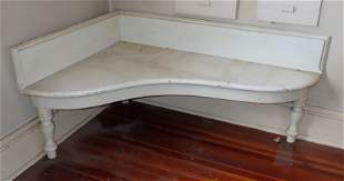 White Painted Corner Stand / Table