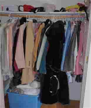 Clothing Closet Coats Purses
