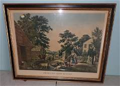 American Farm Scenes Currier & Ives Litho