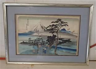 Kuwana Hiroshige Ando Wood Block Print