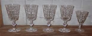 4 Hawkes Crystal Goblets