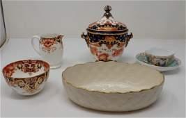 Royal Crown Derby Sugar Bowl Meissen Cup Saucer