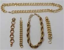 Chunky Gold-Tone Jewelry